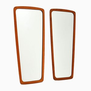 Vintage Danish Teak Mirrors, 1960s, Set of 2