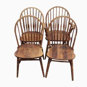 Esszimmerstühle aus Eschenholz, 1940er, 4er Set