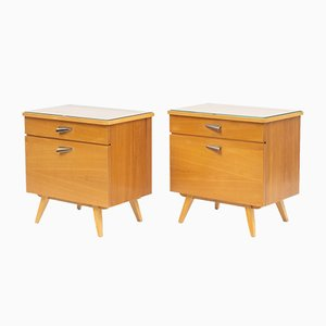Ash Nightstands, 1950s, Set of 2