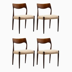 Mid-Century Rosewood Dining Chairs by Fristho Franeker, Set of 4