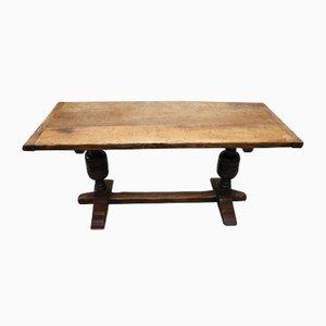 Antique Slim Oak Refectory Table