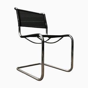 S33 Stuhl in schwarzer Netweave Version von Mart Stam für Thonet, 2000er
