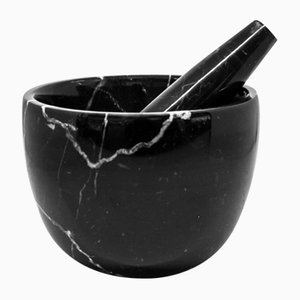 Black Marble Mortar from Fiammettav Home Collection