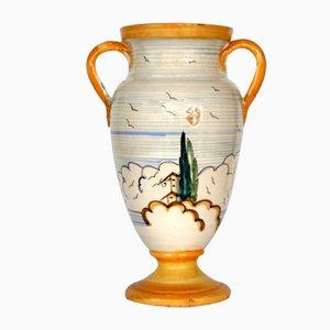 Italian Majolica Pottery Vase from Novecento, 1930s