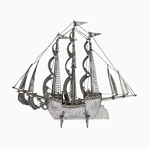 20th Century German Solid Silver Neff Galleon Ship, 1930s