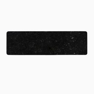 Black Marquina Marble Long Plate from Fiammettav Home Collection