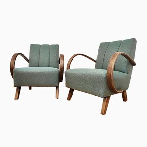 Mid-Century Czechoslovakian Armchairs by Jindřich Halabala for UP Závody, 1960s, Set of 2