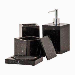 Schwarzes Marquina Marmor Badezimmer Set von Fiammettav Home Collection