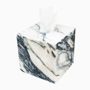 Caja para cubierta de pañuelos de mármol Paonazzo cuadrado de Fiammettav Home Collection
