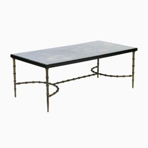 Vintage Lacquered Faux Bamboo Coffee Table