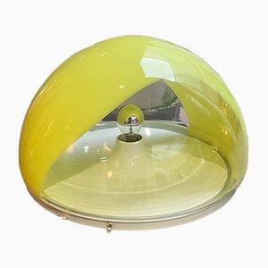 Gelbe Vintage Tischlampe von Mazzega