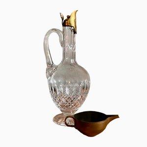 Antike Baccarat Weinkanne aus Kristallglas