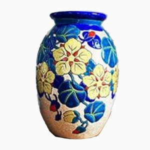 Ceramic Vase by Charles Catteau for Faiencerie de Boch Feres Keramis, 1920s
