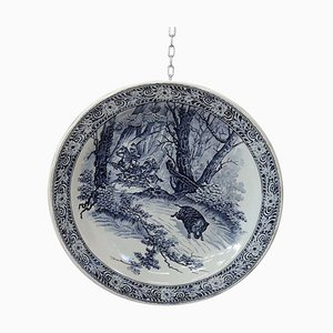 Vintage Blue & White Wall Plate from Royal Delft, 1950s