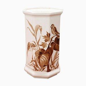 Handbemalte Italienische Keramikvase, 1980er