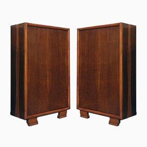Italienische Mid-Century Modern Holz Kleiderschränke, 1930er, 2er Set
