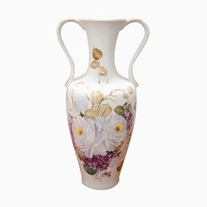 Italian Hand Painted Ceramic Vase, 1980s