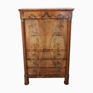 Walnut Secretaire with Internal Secret, 1800s