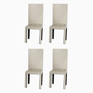 Arcadia Leather Chairs by Paolo Piva for B&B Italia, 1980s, Set of 4