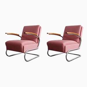 Functionalist Cantilever Armchairs by Willem Hendrik Gispen for Mücke Melder, 1930s, Set of 2