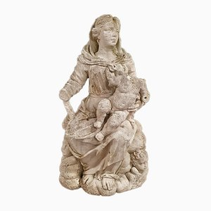 Stone Sculpture of Madonna and Child, 18th-Century