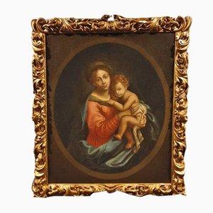 Madonna mit Kind, Öl auf Leinwand