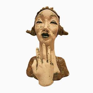 Clay Skulptur von Lady, 1980er