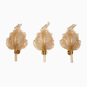 Sconces from Barovier & Toso, 1960s, Set of 3