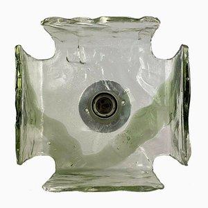 Eisglas Design Wandlampe von Carlo Nason für Kalmar Franken, 1960er