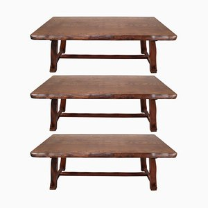 Large Sculptural Tables by Mikko Nupponen, Set of 3