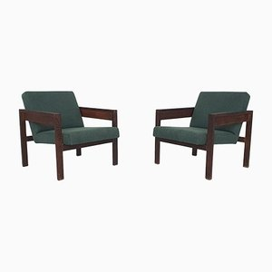 Model SZ25 & SZ80 Wenge Lounge Chairs by Hein Stolle for 't Spectrum, the Netherlands, 1959, Set of 2