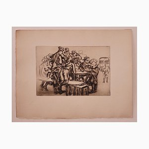 Anselmo Bucci - Militär - Original Radierung - 1919