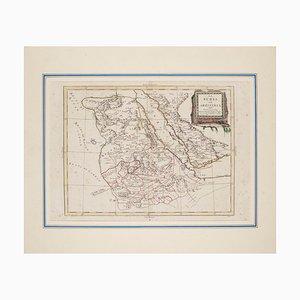 Antonio Zatta - Map of Nubia and Abissinia - Original Etching - 1784