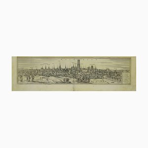 Franz Hogenberg - View of Mechelen - Original Etching - 16th Century