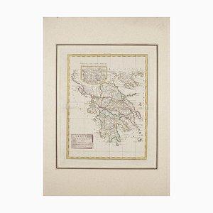 Carte de Antonio Zatta de Ancient Greece - Original Etching - 1785