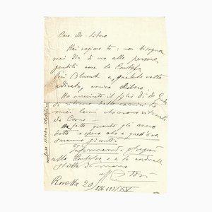 Arturo Tosi - Autograph Buchstabe - 1937