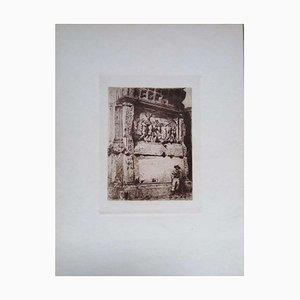Luca Beltrami - Rome, Arc de Titus - Gravure à l'Eau-Forte sur Carton - 1878