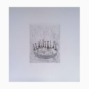 Unknown - Forks - Original Etching on Paper, Kokotovic - 1973