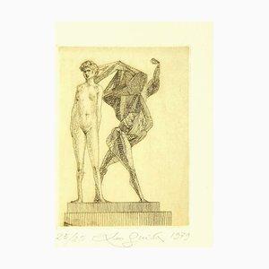 Leo Guida - Nude and Creature - Original Radierung - 1979