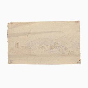 Jan Pieter Verdussen - Landscape - Original Bleistift und Aquarell - 1750