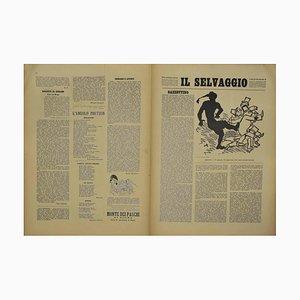 Mino Maccari - the Wild # 10 - Art Magazine with Engravings - 1934