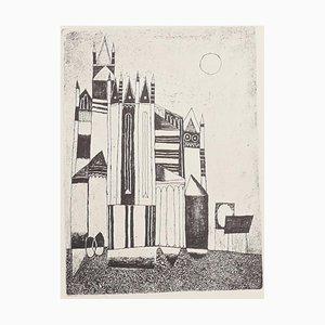 Franco Gentilini - The Cathedral - Original Offsetdruck - 1970er