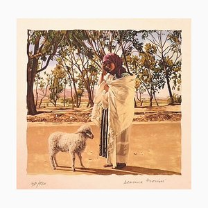 Deanna Frosini - Tunisian Shepherdess - Original Lithograph on Paper - 1990s