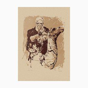 Sergio Barletta - Camel Rider - Original Lithograph on Cardboard - 1980s