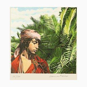 Deanna Frosini - Tunesisches Mädchen - Original Lithografie auf Papier - 1990er