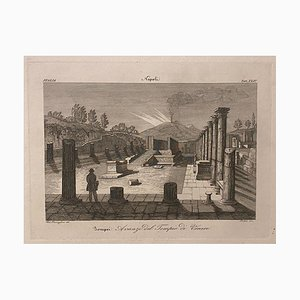 Federico Travaglini - Pompeii, Riuns of the Temple of Venus - Etching - 19th Century