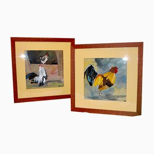 Watercolors by Thierry Faure, Set of 2