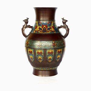 Japanese Enamel Vase, 1950s