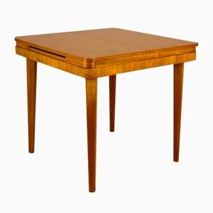 Square Oak Veneered Folding Table from Jitona, 1960s