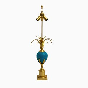 Lámpara de mesa francesa vintage dorada